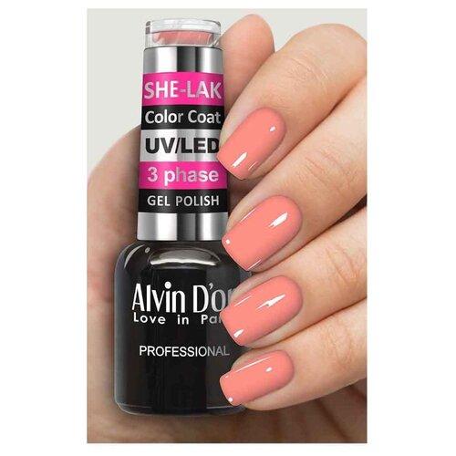 Купить Гель-лак для ногтей Alvin D'or She-Lak Color Coat, 8 мл, оттенок 3556