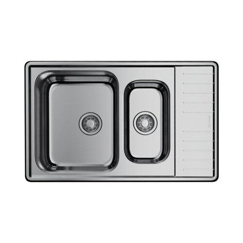 Фото - Врезная кухонная мойка 77 см OMOIKIRI Sagami 79-2-IN нержавеющая сталь врезная кухонная мойка 77 см omoikiri kasumigaura 77 in 4993728 нержавеющая сталь