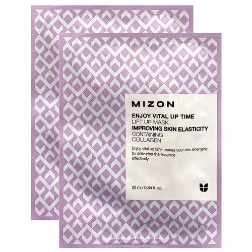 Mizon Enjoy Vital-Up Time Lift Up Mask подтягивающая тканевая маска, 25 мл, 2 шт. тканевая маска mizon bio collagen ampoule mask объем 27 мл