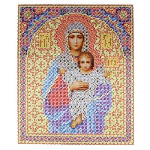 Купить Канва для вышивания с рисунком NOVA SLOBODA Богородица БИС-9006, желтый/голубой 19 х 25 см