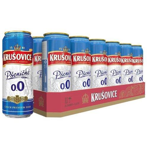 Пивной напиток безалкогольный Krusovice Psenicne 0,43 л 24 шт