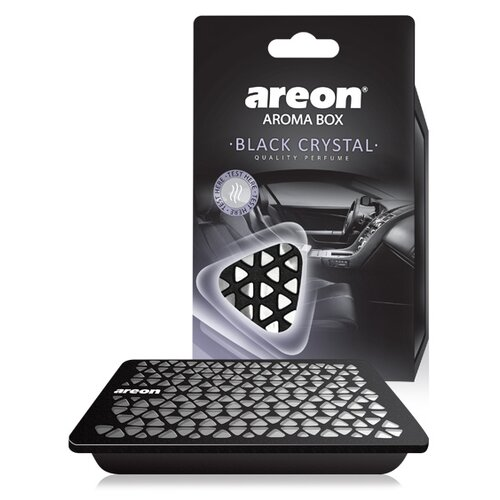 AREON Ароматизатор для автомобиля Box Black Crystal ABC01 70 г