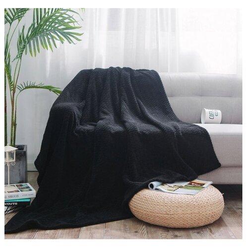 Плед Cleo Royal plush 180х200 см, черный плед cleo бамбук арт 025 pb 180х200 см