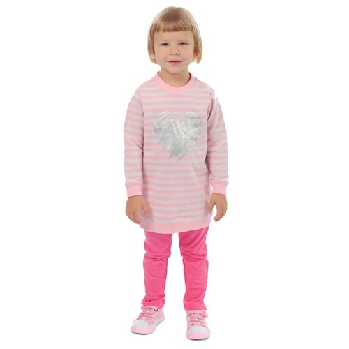 Свитшот V-Baby размер 122, серый/розовый