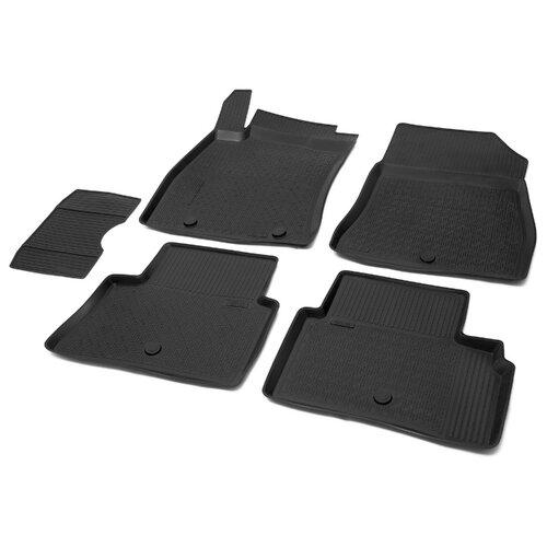 Комплект ковриков RIVAL 14102002 5 шт. черный