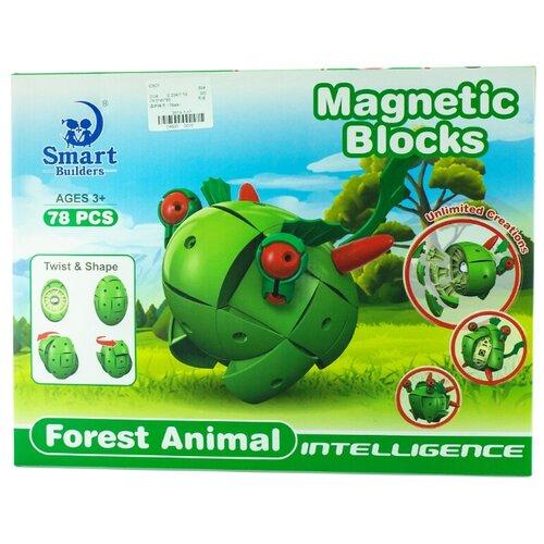 Магнитный конструктор Smart Builders Magnetic Blocks 304 Лесные жители library builders