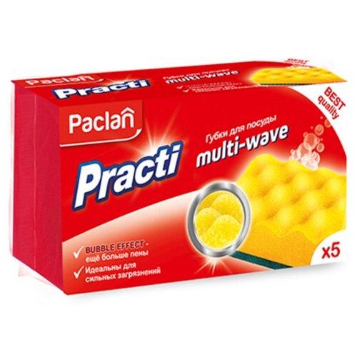 Губка для посуды Paclan Practi Multi-Wave 5 шт