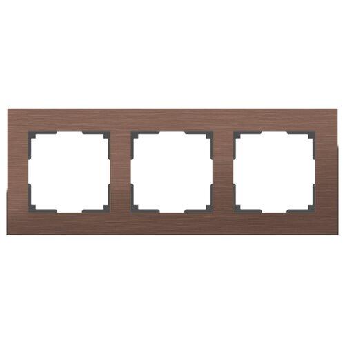 Рамка 3п Werkel WL11-Frame-03, коричневый алюминий рамка werkel aluminium алюминий коричневый wl11 frame 05
