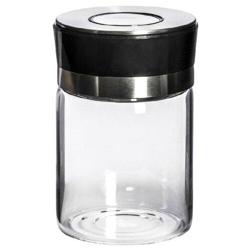 HAUSMANN Емкость для хранения HM-13210050006 720 мл бесцветный/черный/серебристый