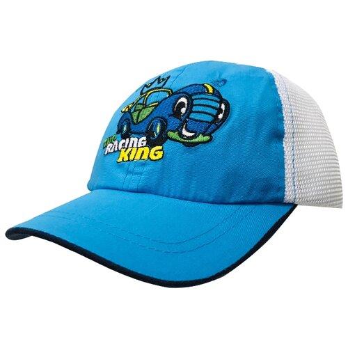 Купить Бейсболка Be Snazzy размер 46, синий/белый, Головные уборы