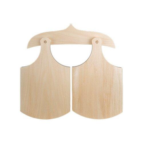 Купить Заготовки и основыMr. Carving ДОС-06 доски разделочные на подвесе липа 30 x 17 x 1.5 см 2 шт двойные, Декоративные элементы и материалы