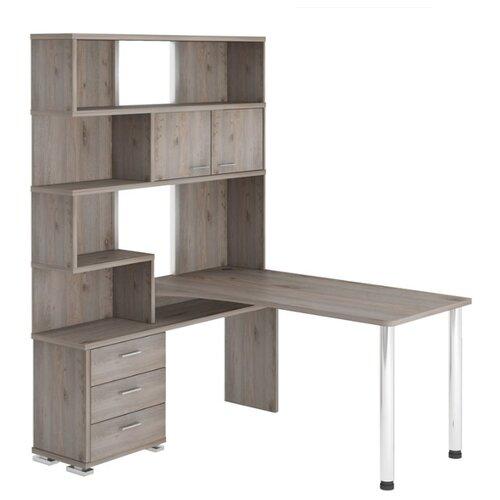 Компьютерный стол Мэрдэс Домино Нельсон СР-420, ШхГ: 130х130 см, угол: слева, цвет: нельсон