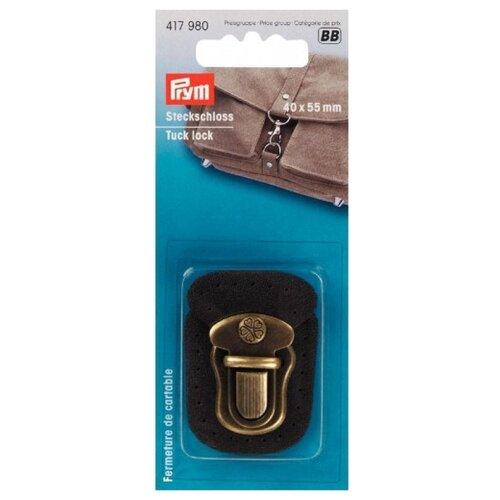 Купить Prym Портфельный замок для пришивания 40x55мм 417980, коричневый, Фурнитура