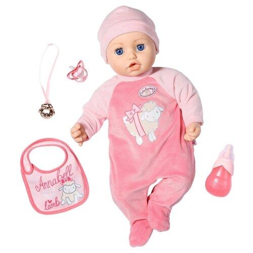 Фото - Интерактивная кукла Zapf Creation Baby Annabell 43 см 702-628 бутылочка zapf creation baby annabell 700 976 розовый