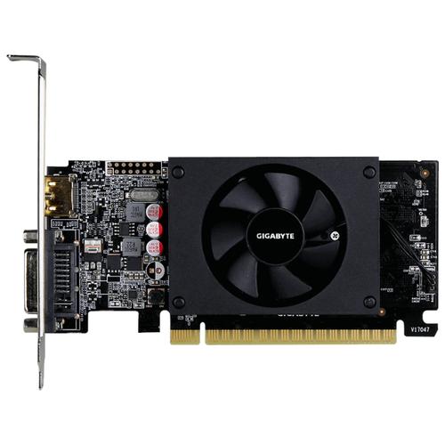 Фото - Видеокарта GIGABYTE GeForce GT 710 954MHz PCI-E 2.0 1024MB 5010MHz 64 bit DVI HDMI HDCP Low Profile (rev. 1.0) Retail видеокарта gigabyte geforce gt 710 954mhz pci e 2 0 2048mb 5010mhz 64 bit dvi hdmi hdcp low profile gv n710d5 2gl