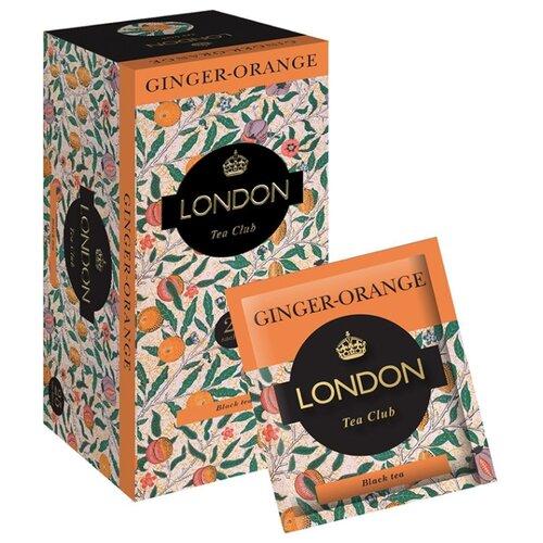 Чай черный London tea сlub Ginger-orange в пакетиках , 50 г , 25 шт.