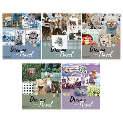 Купить ArtSpace Упаковка тетрадей Стиль. Dreams and travel Т96к_26705, 5 шт., клетка, 96 л., Тетради
