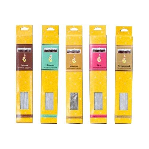 Благовония-палочки Индокитай NR-1395А/105 (5 ароматов) 22.5 см 185 г 20 шт.
