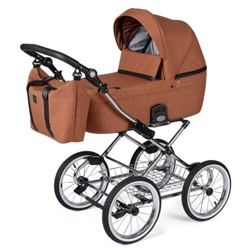 Фото - Универсальная коляска Noordline Nicole Classic (3 в 1), terracota/chrom, цвет шасси: серебристый коляски 3 в 1 noordline оlivia sport 3 в 1