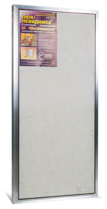 Ревизионный люк Евроформат ЕТР 50-100 настенный под плитку ПРАКТИКА