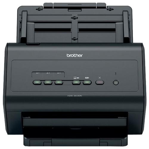Сканер Brother ADS-3000N черный сканер brother pds 5000