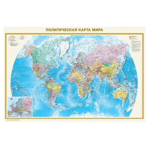 АСТ Политическая карта мира-Федеративное устройство России двухсторонняя (978-5-17-096133-7)