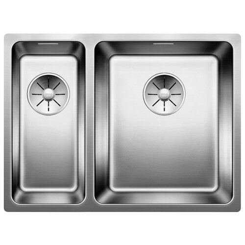 Врезная кухонная мойка 58.5 см Blanco Andano 340/180-U InFino (чаша слева) 522979 нержавеющая сталь/полированная кухонная мойка blanco andano 340 340 u infino зеркальная полированная сталь 522983