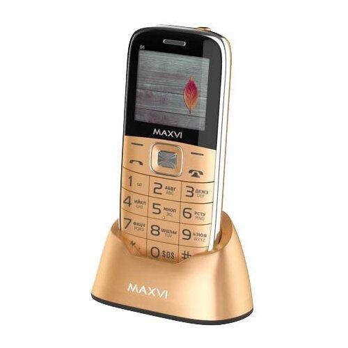 Телефон MAXVI B6 золотой