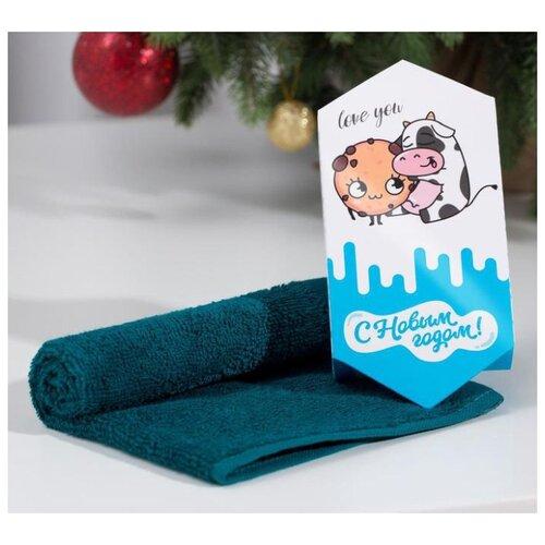 Этель полотенце С Новым годом для рук 30х30 см синий