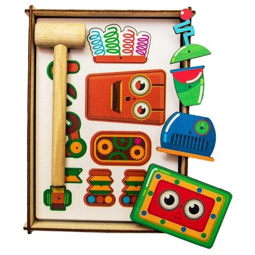 Купить Woodland Конструктор Веселые гвоздики Роботы (118107), Мозаика