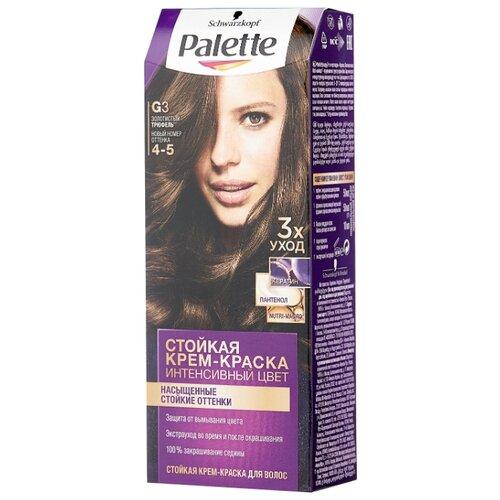 Palette Интенсивный цвет Стойкая крем-краска для волос, G3 4-5 Золотистый трюфель