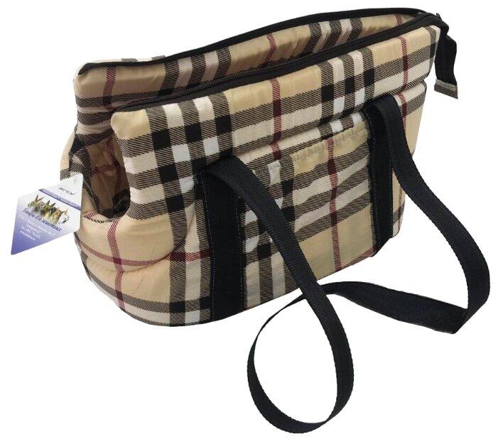 Переноска-сумка для собак Бобровый Дворик Шотландка №2 44х28х30 см
