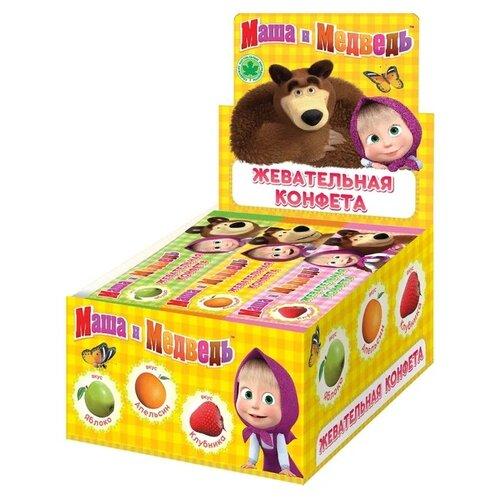 Жевательные конфеты Сладкая сказка Маша и медведь ассорти 48 шт. сладкая сказка рождественская дверь красная шоколадные конфеты 400 г