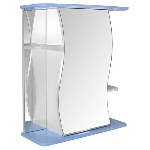 Шкаф-зеркало для ванной Mixline Венеция-60, (ШхГхВ): 60х24х69 см, голубой