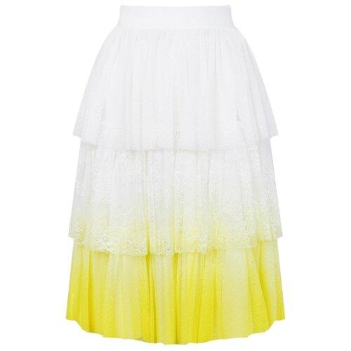 Купить Юбка Ermanno Scervino размер 164, белый/желтый, Юбки