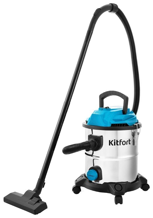 Пылесос KITFORT KT-548, 1000Вт, голубой/серебристый