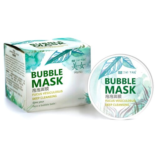 TAI YAN Кислородная очищающая маска Bubble Mask, 100 мл tai yan альгинатная маска чайное дерево и ива 30 г
