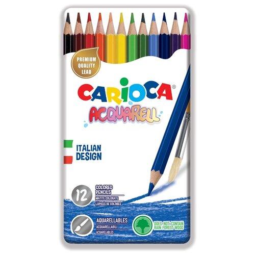 Купить Carioca набор цветных карандашей Acquarell 12 цветов (42859), Цветные карандаши