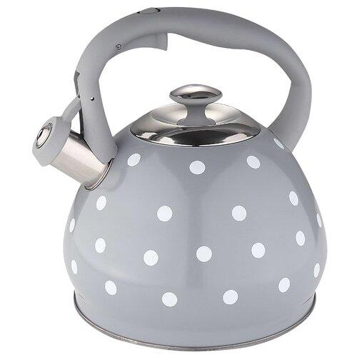 Alpenkok Чайник со свистком AK-530 3 л серый в горошек чайник agness горошек со свистком 937 801 белый 3 л