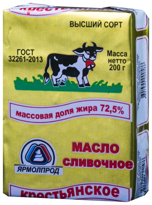 Ярмолпрод Масло сливочное Крестьянское 72.5%, 200 г