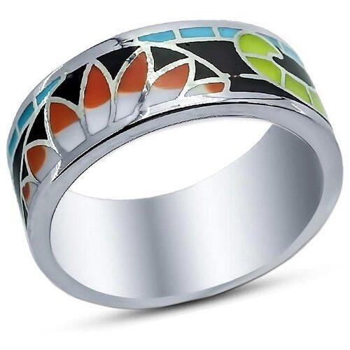 Silver WINGS Кольцо с эмалью из серебра 21qsjud00638mix-19, размер 16 фото