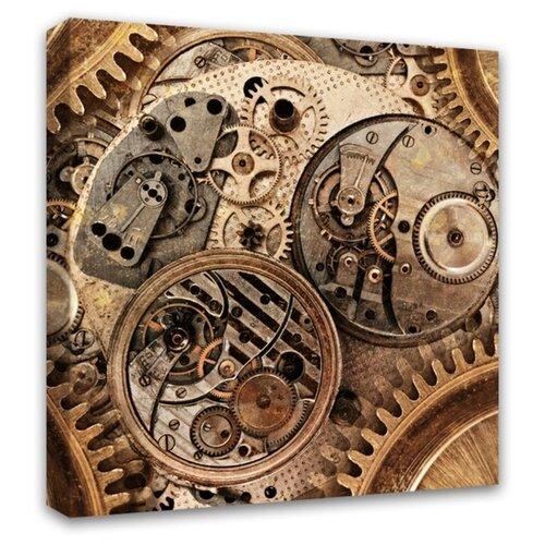 Картина Симфония Часовой механизм 30х30 см