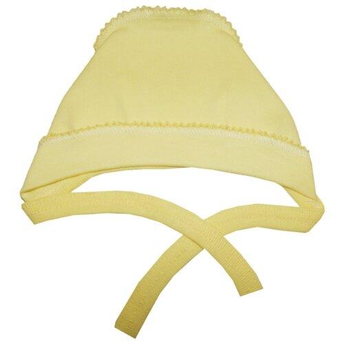 Купить Чепчик Папитто размер 44, желтый, Головные уборы