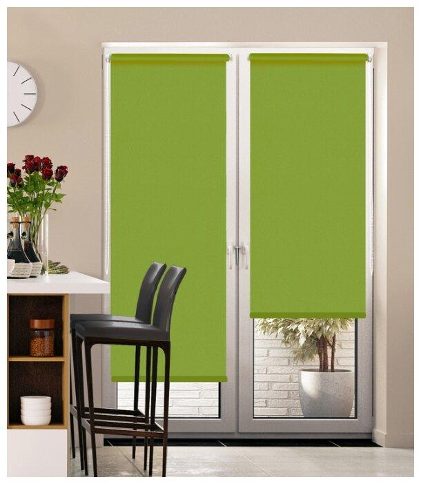 Купить Рулонная штора Pikamo однотонная, зеленый, ширина 43см, высота 170см по низкой цене с доставкой из Яндекс.Маркета (бывший Беру)