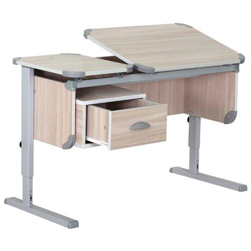 Купить Стол ДЭМИ Ученик СУТ-29 110x50 см ясень/серый, Парты и столы