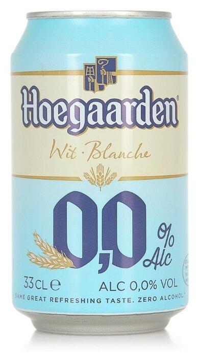 Пиво безалкогольное Hoegaarden Inbev Belgium 0.33л банка