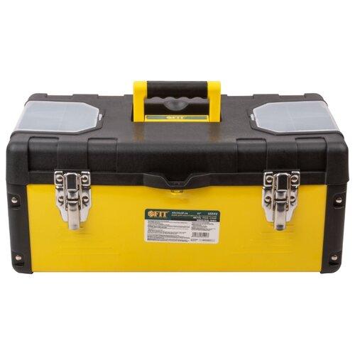 Ящик с органайзером FIT 65592 45x24x20 см 18'' черный/желтый ящик с органайзером stanley jumbo 1 92 908 31 4x56 2x30 см желтый черный