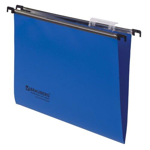 BRAUBERG Подвесные папки пластик А4 350х245 мм набор 5 шт. синий этикет лента 26х12 мм волна зеленая комплект 5 рулонов по 800 шт brauberg 123579
