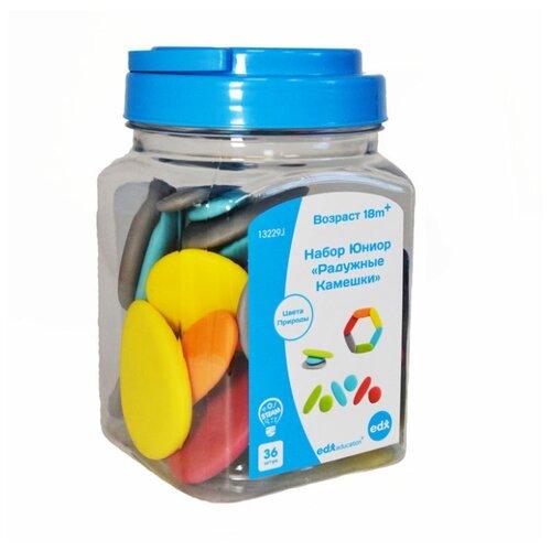 Купить Счетный материал Edx Education Junior Rainbow Pebbles 13229J разноцветный, Обучающие материалы и авторские методики