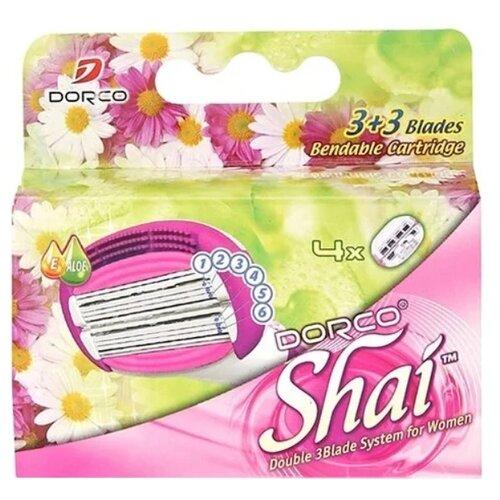 Dorco SHAI Sweetie Сменные кассеты упаковка из 4 шт